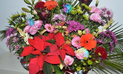 Pon en tu cena de navidad un centro de flores naturales en Dos Hermanas Sevilla