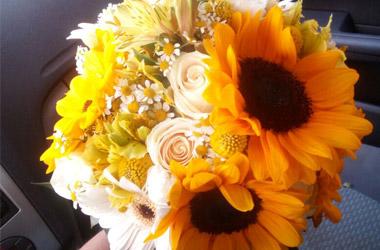ramo de novia girasoles sevilla